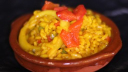Arroz paella.
